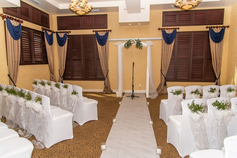 River room wedding setup
