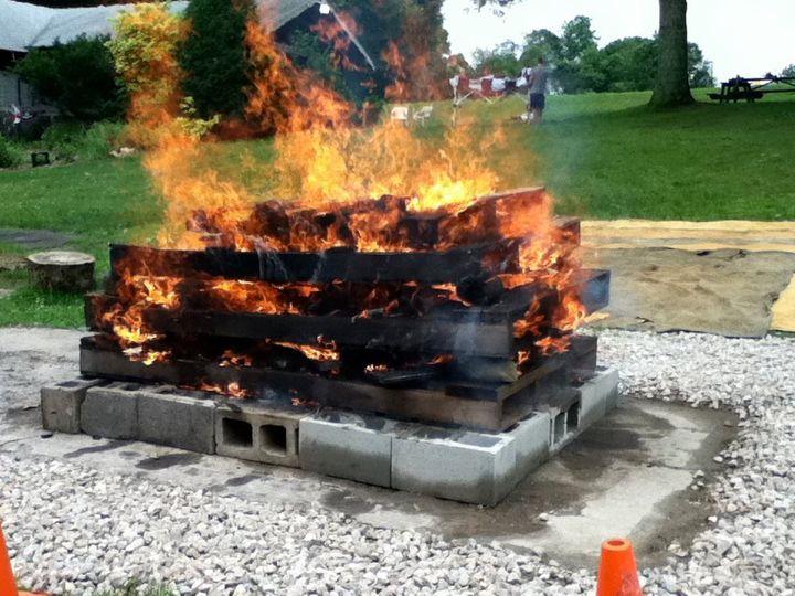 Hot Rock Clambake Fire