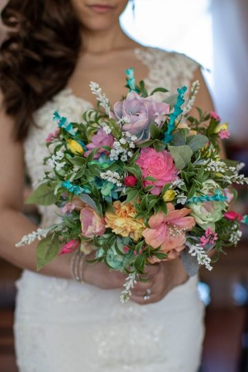 Close up destination bouquet