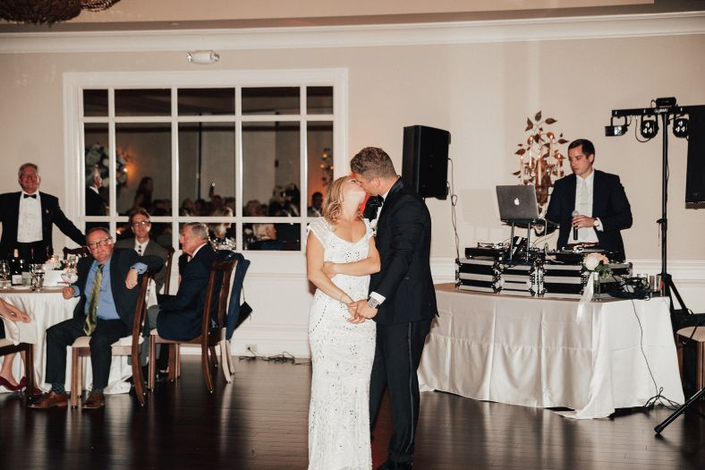 First dance to the the DJ's music