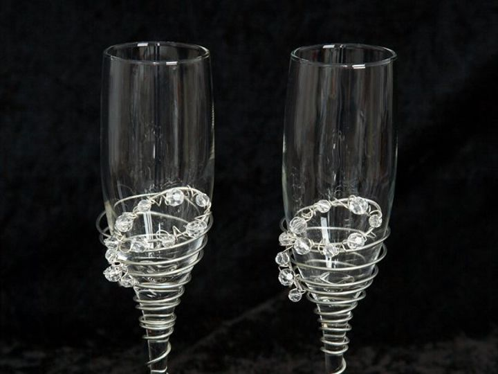 Tmx 1357779557511 Beadedtoastingflutes Dilworth wedding favor