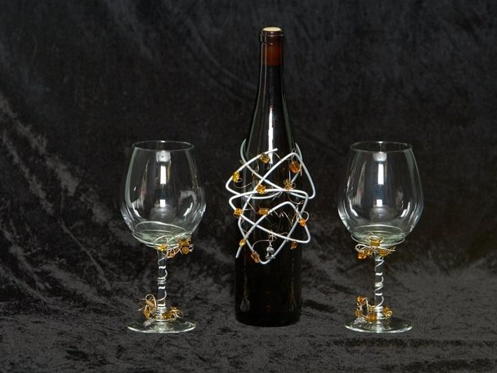 Tmx 1357782535499 Bottletopperwineglasses Dilworth wedding favor