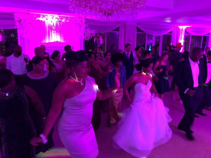 Reception dance floor fun