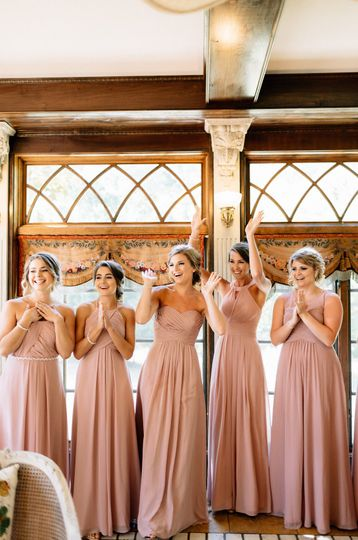 Friends and bridesmaids