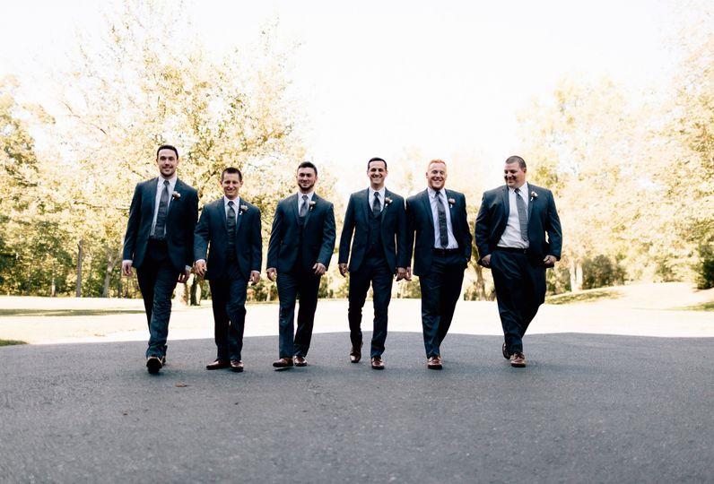 Gentlemen in suits