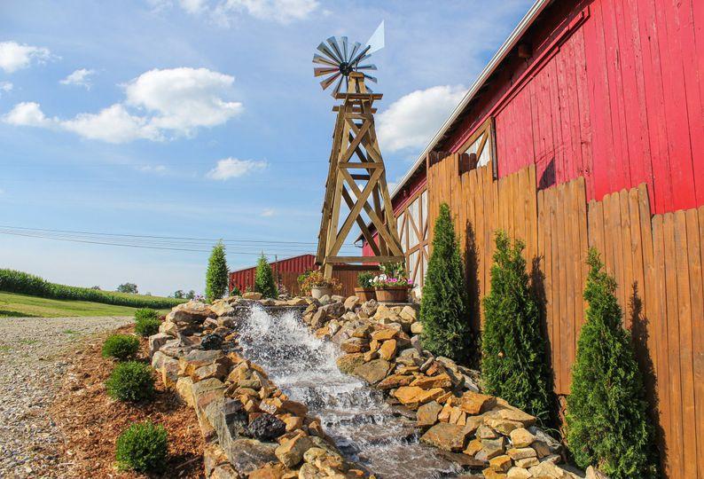 Windmill waterfall feature