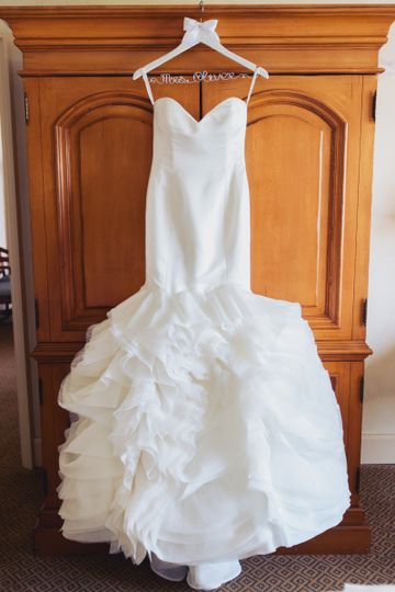 Strapless Satin Wedding Dress with Sweetheart Neckline