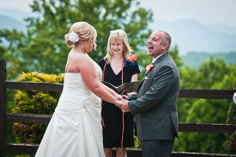 tiffany wedding barbara chris laughing