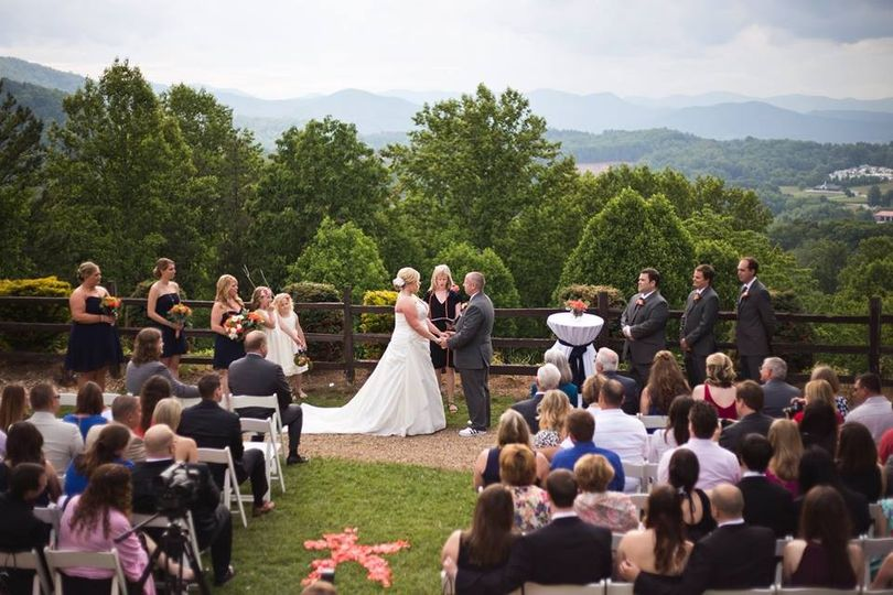 tiffany wedding crowd view