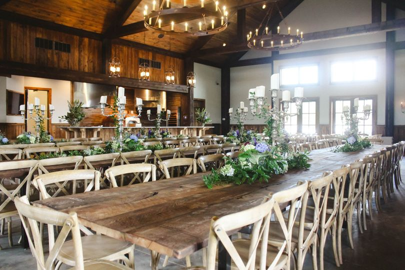 Rustic reception space