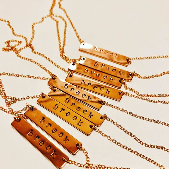 Gift: metal jewelry