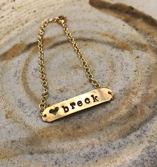 Gift: stamped metal jewelry
