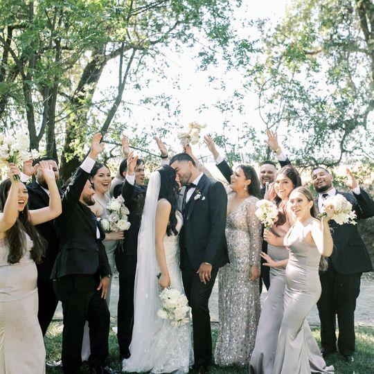 Bridal party  bride & groom
