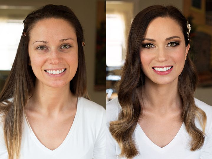 Elegant makeup | Before and after