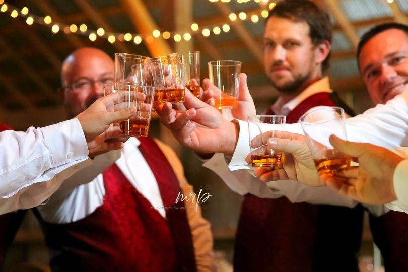 Toasting the groom