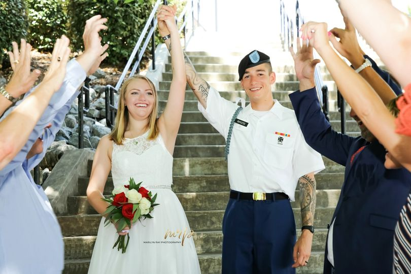 Small Military wedding