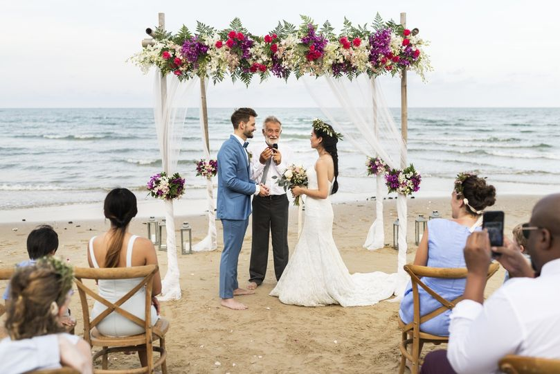 Live stream beach wedding