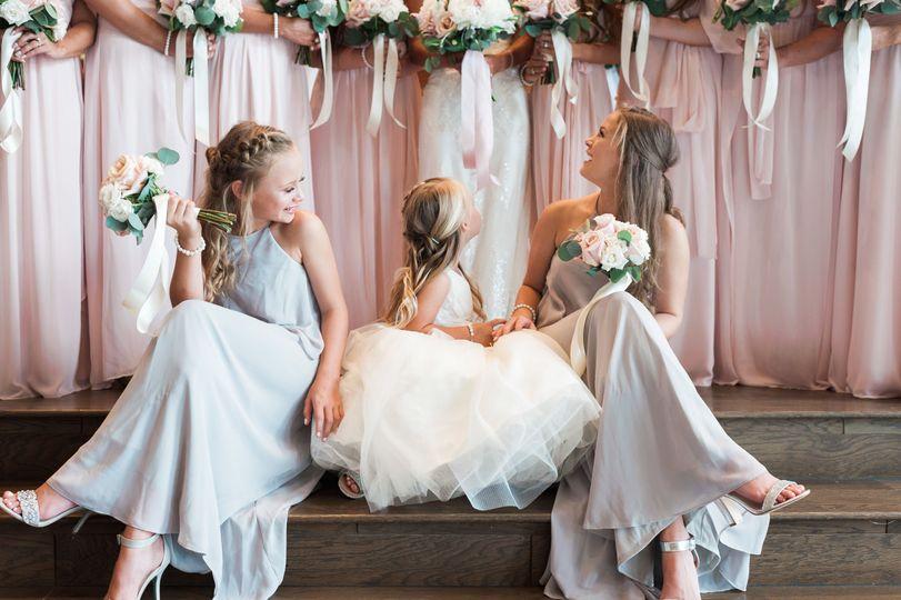 The junior bridesmaids
