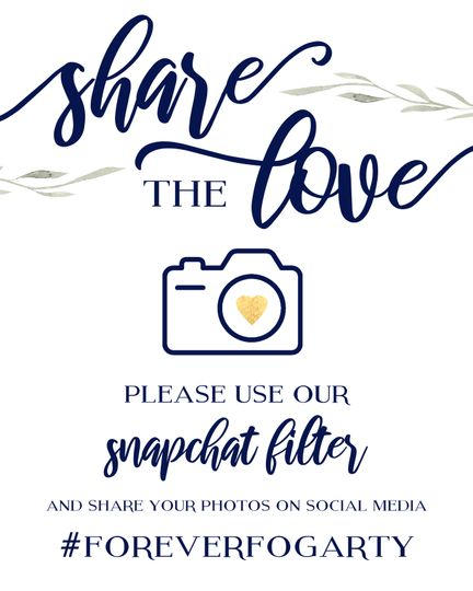 Hashtag and Snapchat Sign