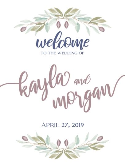 Wedding Ceremony Welcome Sign