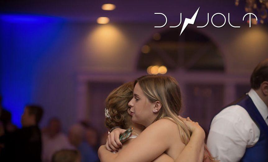 Hug on the dance floor