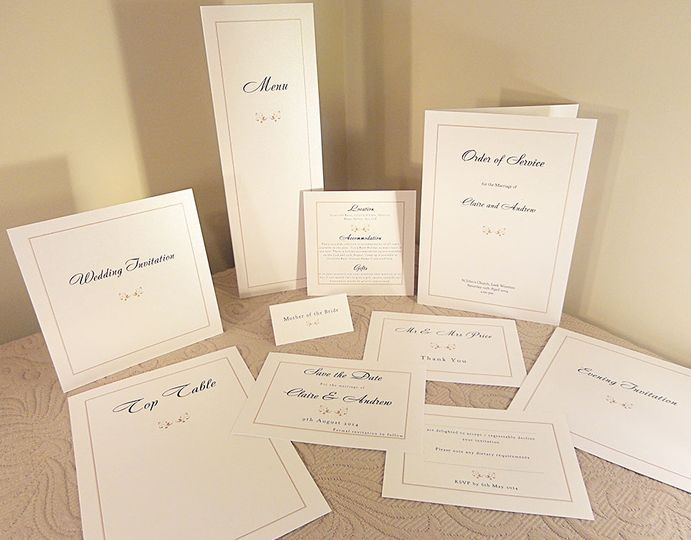 Classic Wedding Invitations Collection In UK- Pura