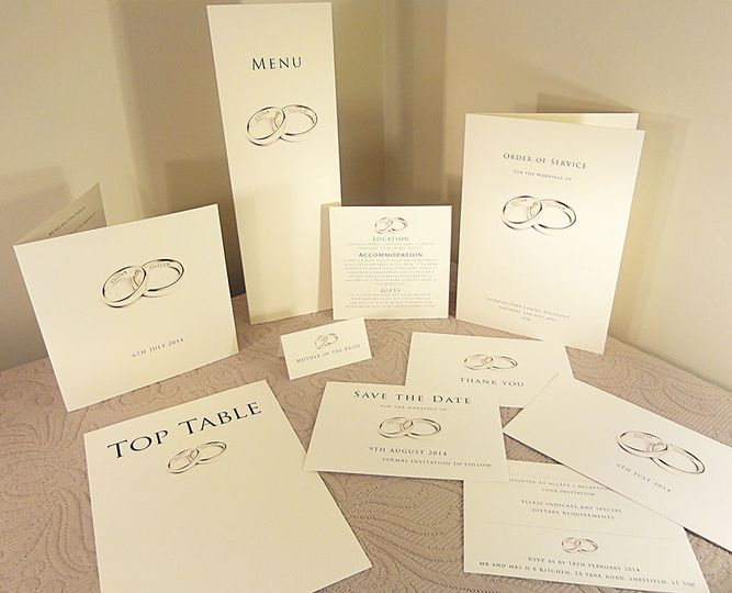 Classic Wedding Invitations Collection In UK- Rings