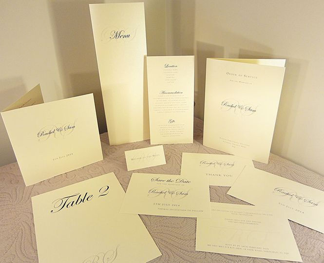 Classic Wedding Invitations Collection In UK- Turia