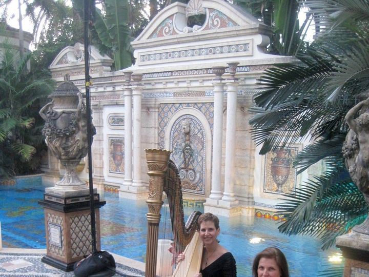 Tmx 1381721984294 Esther Underhay Versace Mansion The Elegant Harp2 Lake Worth wedding ceremonymusic