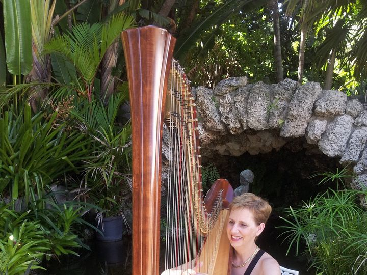 Tmx 1452985672497 The Elegant Harp Norton Sculpture Gardens Lake Worth wedding ceremonymusic