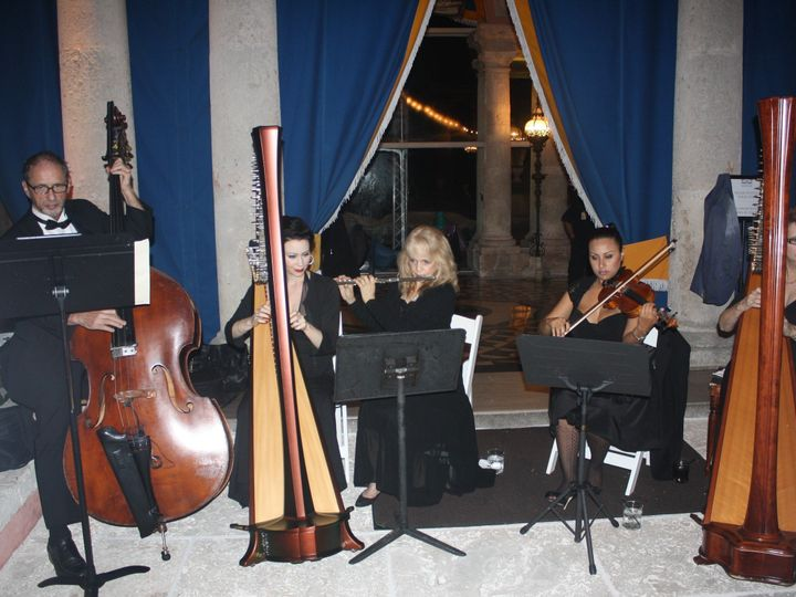 Tmx 1452996022701 The Elegant Harp Ensemble Vizcaya Lake Worth wedding ceremonymusic