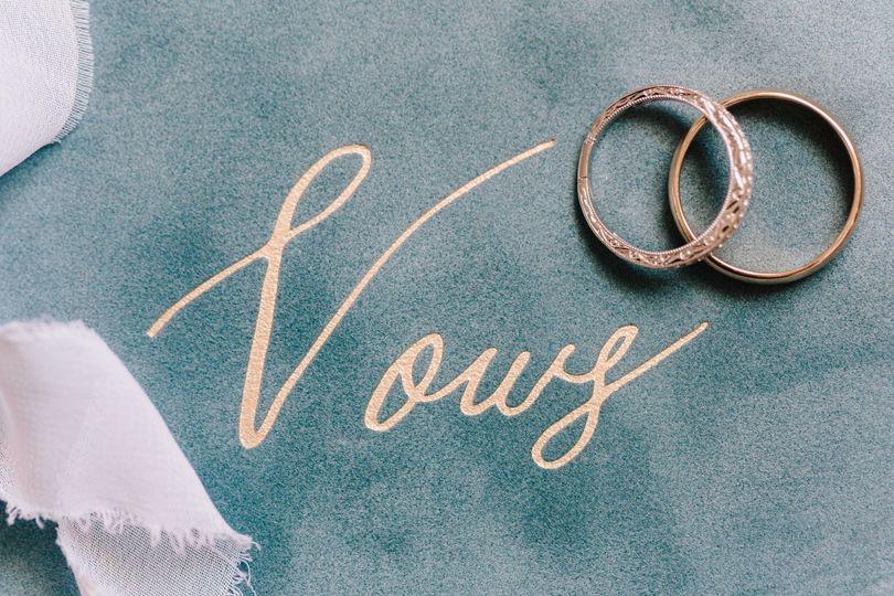 Wedding vows booklet