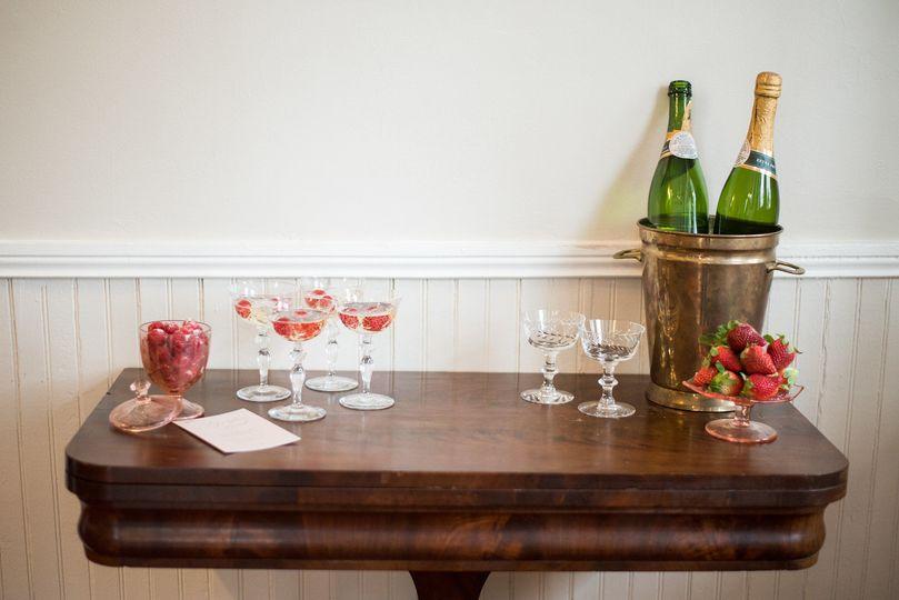 Wine and wine glass