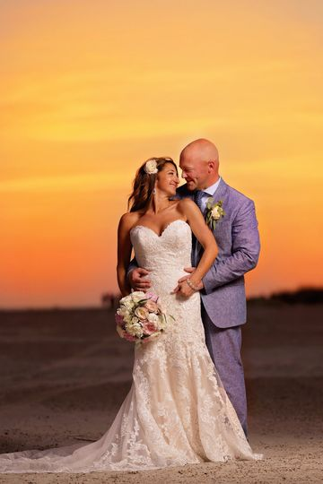 Sunset Wedding Couples