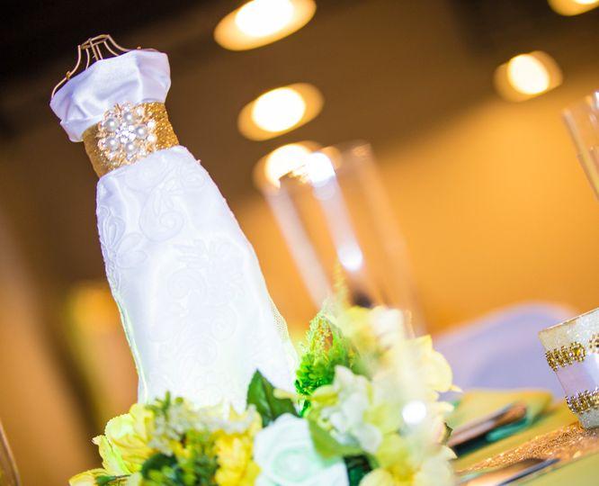 Wedding dress centerpiece
