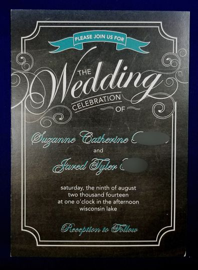 black blue invite