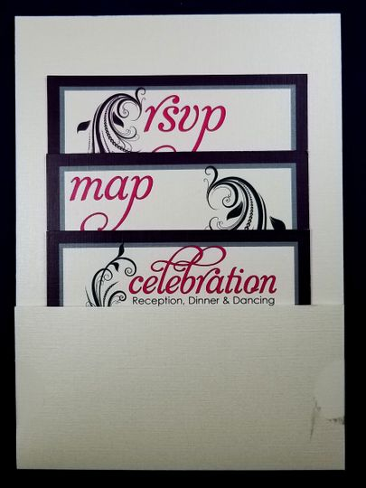 pocket invite w rsvp map reception card