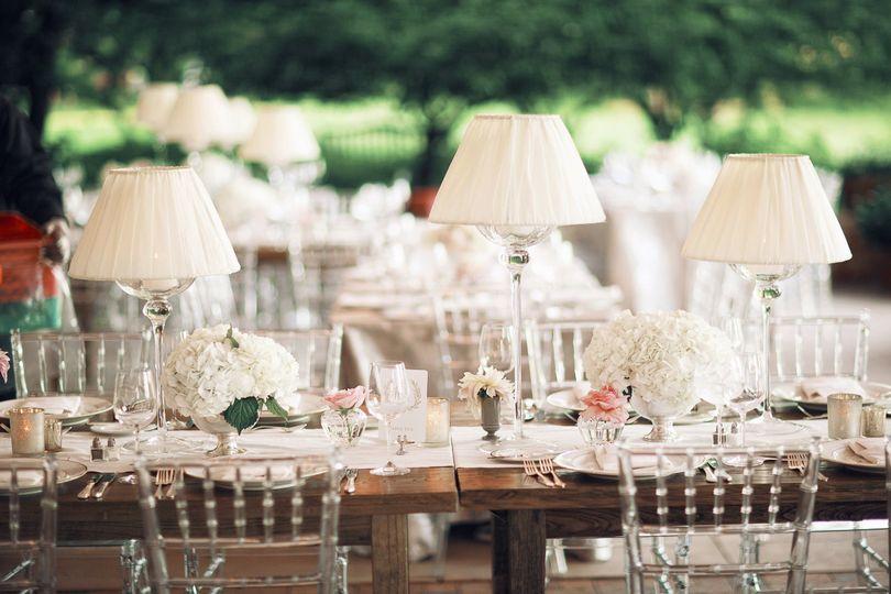 farm tables with crystal chairs hmr design