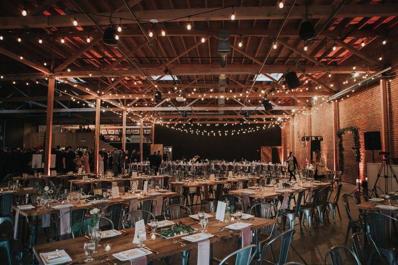 Reception setup and lighting