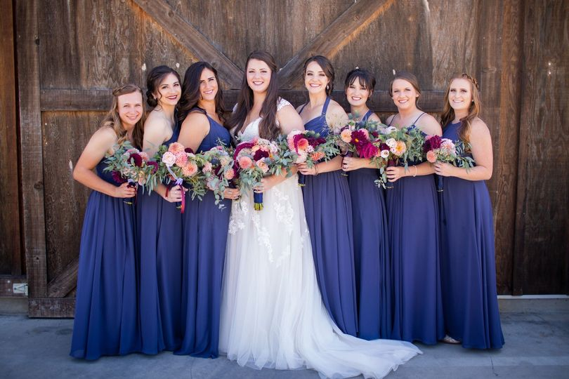 Bridesmaids by the winery