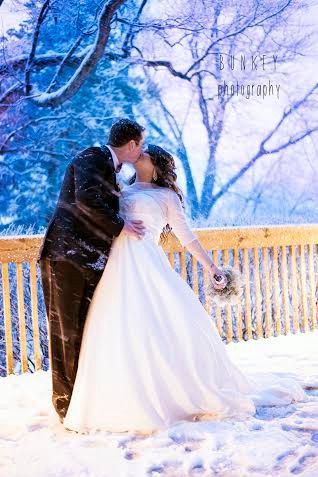 Newlyweds in the winter