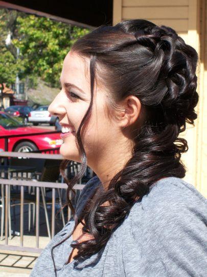 Side-swept curls