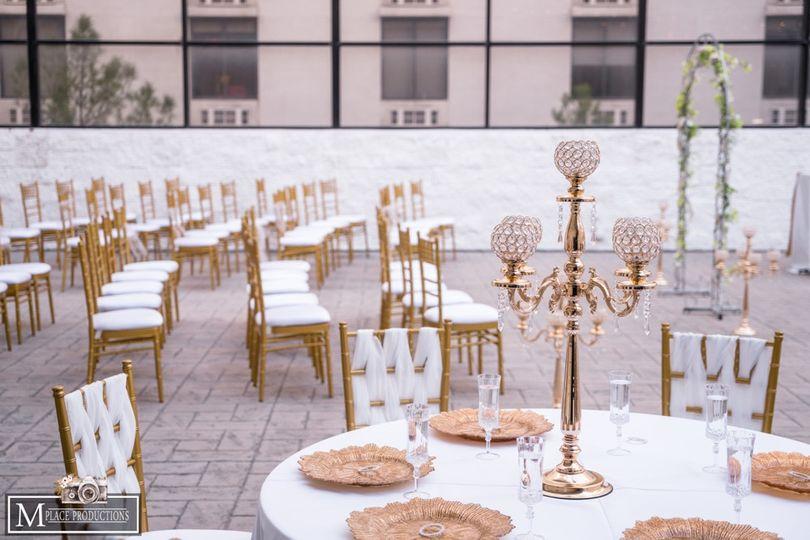 Gold & White Setup