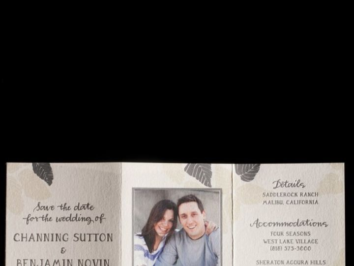 Tmx 1436739945893 Bristen Tri Fold Save The Date Seattle wedding invitation
