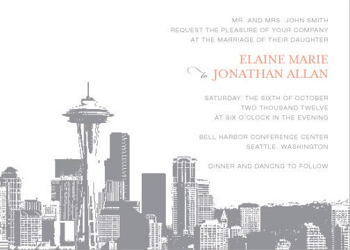Tmx 1436741499716 Seattle Skyline Invitation Seattle wedding invitation