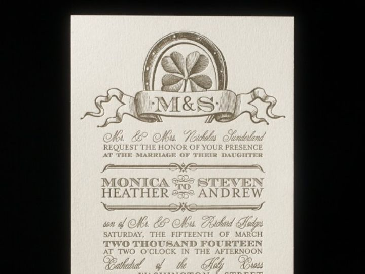 Tmx 1436742966936 Antique Luck Invitation Seattle wedding invitation