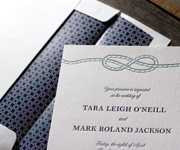 Tmx 1436743006621 Nautical Classic Letterpress Sample 4 Seattle wedding invitation