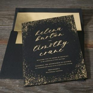 Tmx 1485633670644 Nightfall With Gold Lined Envelope 4 312x312 Seattle wedding invitation