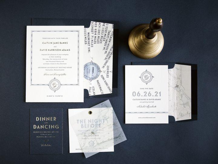 Tmx Compass Letterpress Invitations 51 406417 162154711466873 Seattle, WA wedding invitation