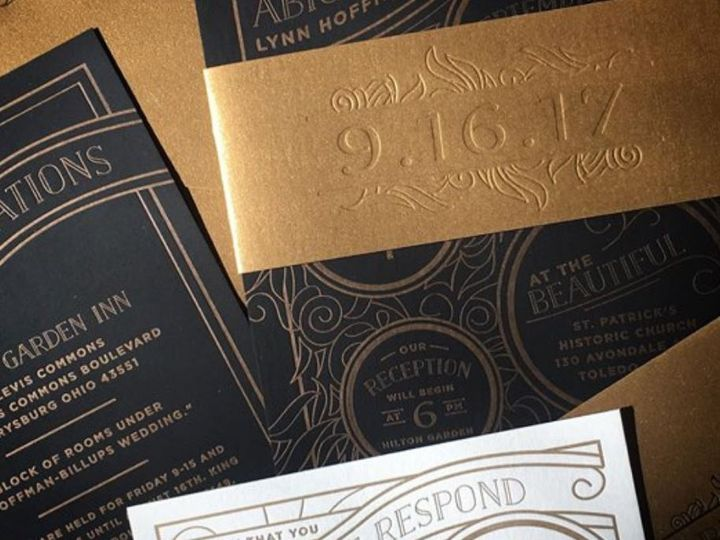 Tmx Custom Black And Gold 51 406417 162154796815601 Seattle, WA wedding invitation